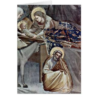 Détail de nativité par Giotto Di Bondone Cartes