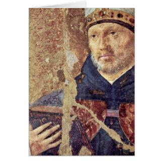 Détail de St Benoît par Antonello DA Messine Cartes