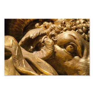 Détail d'or de statue, jardins de Versailles Photos Sur Toile