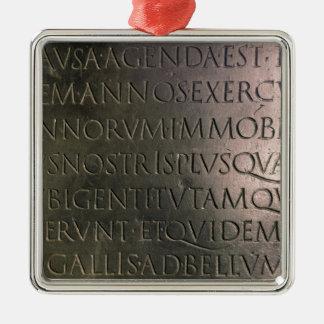Détail du Tableau de Claudian Ornement Carré Argenté