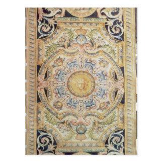 Détail d'un tapis de Savonnerie fait pour Carte Postale