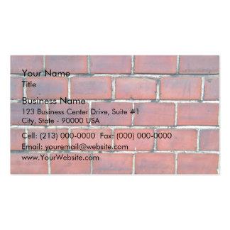 Détail rouge doux de mur de briques carte de visite standard