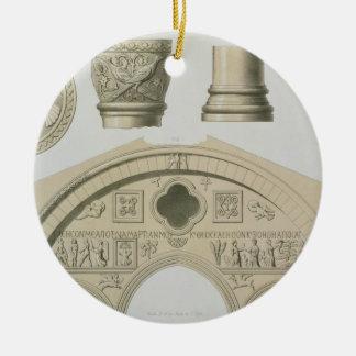 Détails d'une voûte sculptée et colonnes de St Ornement Rond En Céramique