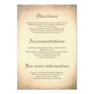 Détails vintages gothiques de mariage - carton d'invitation 8,89 cm x 12,70 cm