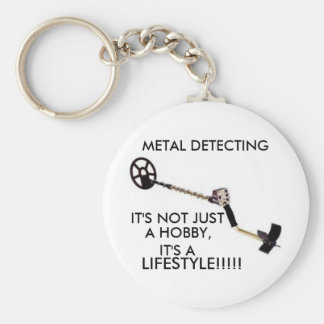 Détecteur de métaux porte-clé rond