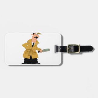 détective de pointe étiquette pour bagages