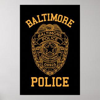 détective du Maryland de police de Baltimore Affiches
