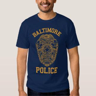 détective du Maryland de police de Baltimore T-shirts