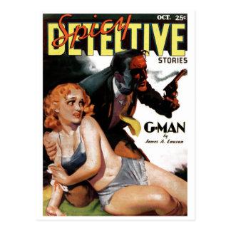 """Détective épicé - carte postale de """"G-Man"""""""