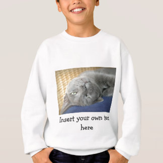 Détendez ! Chat de ronronnement gris - chandail Sweatshirt