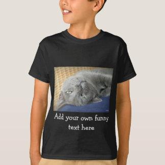 Détendez ! Chat de ronronnement gris - noircissez T-shirt