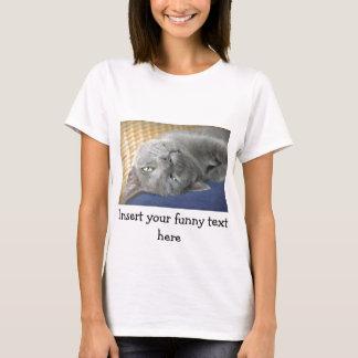 Détendez ! Chat de ronronnement gris - T-shirt
