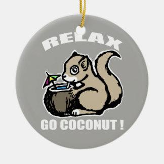 Détendez ! Disparaissent la noix de coco Ornement Rond En Céramique
