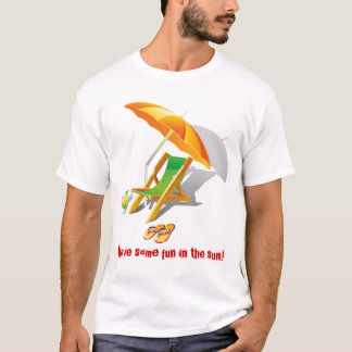 Détendez le fainéant de vacances d'amusement d'été t-shirt