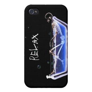 DÉTENDEZ le squelette de rayon X de baignoire - or Étui iPhone 4/4S