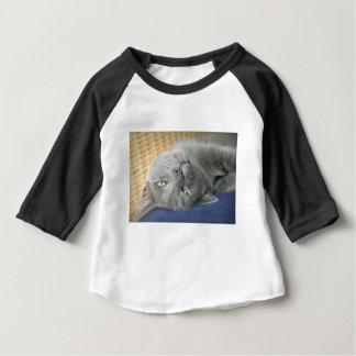 Détendez ! T-shirt de ronronnement gris de bébé de