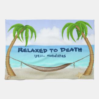 Détendu à la plage d'Utila Honduras de la mort Serviette Éponge