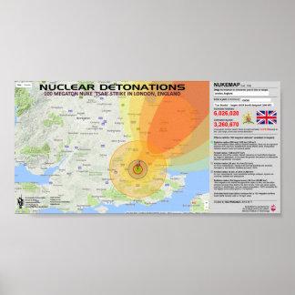 Détonations nucléaires - Angleterre Posters