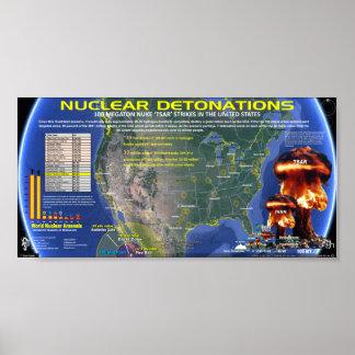 Détonations nucléaires - Etats-Unis Posters