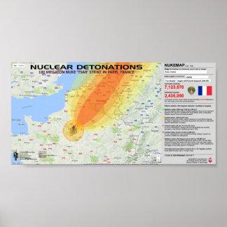 Détonations nucléaires - France Posters