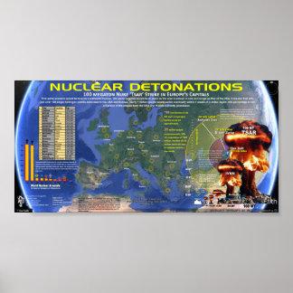 Détonations nucléaires - l'Europe Posters
