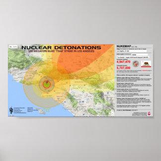 Détonations nucléaires - Los Angeles Posters
