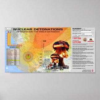 Détonations nucléaires - San Francisco Posters