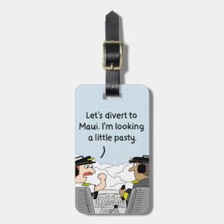 Détournez à l'étiquette pilote de bagage de Maui Étiquette À Bagage