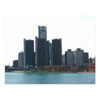 Detroit, carte postale d'horizon de MI