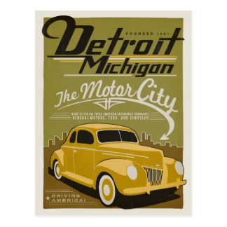 Detroit, MI Carte Postale