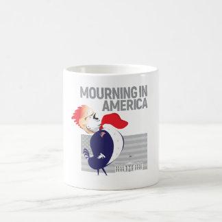 Deuil dans la tasse de l'Amérique
