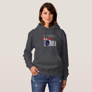Deuil dans le sweat - shirt à capuche de la femme