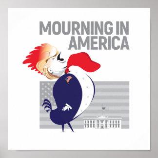 Deuil en affiche de l'Amérique Poster