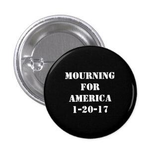 Deuil pour le bouton de l'Amérique Badge