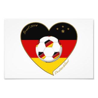 «DEUTSCHLAND» Soccer Team. Football de l'Allemag Impressions Photo