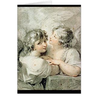 Deux anges, XVIIIème siècle Cartes