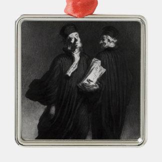 Deux avocats, c.1862 ornement carré argenté