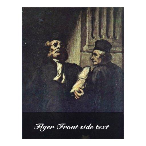 Deux avocats, par Honoré Daumier Prospectus Customisé