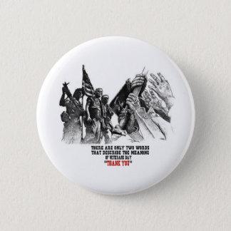 Deux boutons de jour de vétérans de mots badge