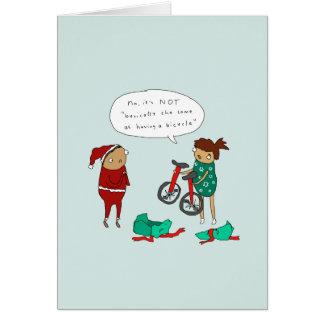 Deux carte de Noël de recyclage comique drôle des