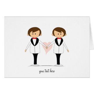 Deux cartes de mariage de mariés