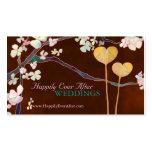 Deux cartes de visite élégants de wedding planner  carte de visite