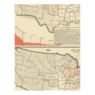 Deux cartes lithographiées par couleur des