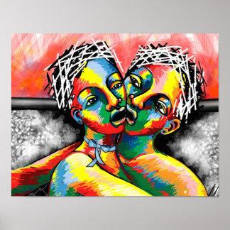 Deux célèbrent par ART Affiche