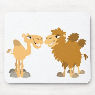 Deux chameaux mignons Mousepad de bande dessinée Tapis De Souris