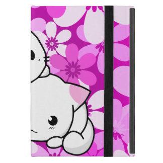 Deux chatons sur l'arrière - plan rose coques iPad mini