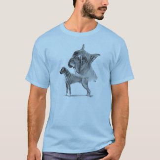 Deux chiens de boxeur t-shirt