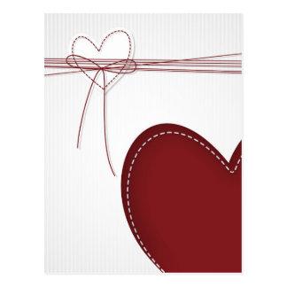 Deux coeurs carte postale