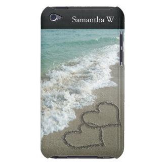 Deux coeurs de sable sur la plage, océan coque iPod Case-Mate