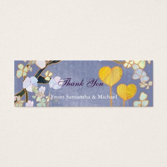Deux coeurs : Étiquettes de cadeau de merci de Mini Carte De Visite